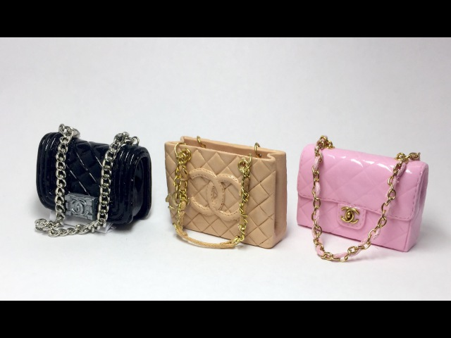 Miniature Chanel Bag(Grand Shopping)/Polymer Clay Tutorial 폴리머클레이로 미니어쳐 샤넬가방 만들기
