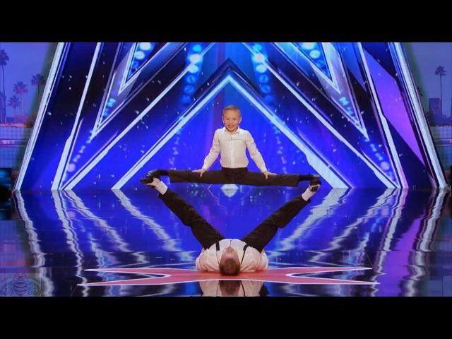 America's Got Talent 2017 Danylo Oskar Dynamic Dad Son Full Intro Audition S12E06