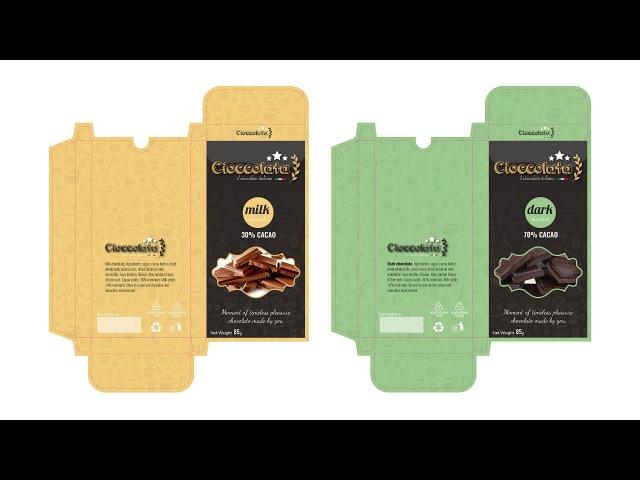 PACKAGING DESIGN Cioccolata Chocolate Tutorial Adobe illustrator CC section A