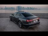 2017 Audi S6 (450hp,V8TT) in Daytona gray pearl effect rocking the exclusive Doha