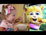 Говорящий Том и ДЕТСКИЕ ШАЛОСТИ - Кушаем, чистим зубы Вредные детки ПРАНК Bad Baby Ви...