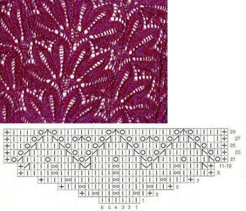 Узоры для вязания в картинках 359