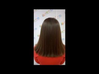Разглаживание волос кератином ДО/ПОСЛЕ