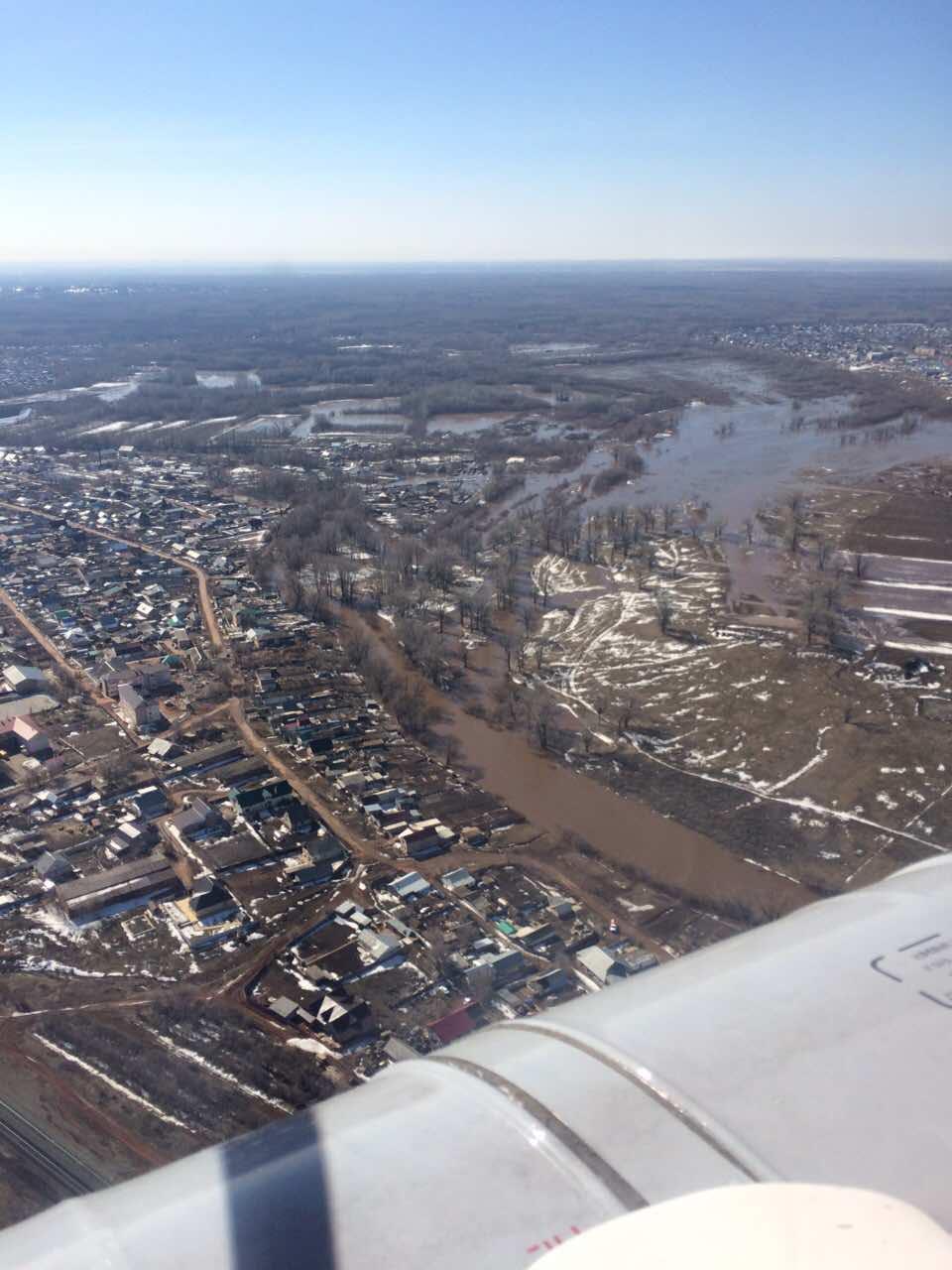 Уточненная информация по подтоплению придомовых территорий в селе Краснохолм города Оренбург по состоянию на 09:00 (мск)