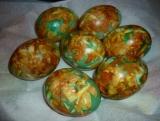 Красим яйца...зеленкой. Пасхальные яйца. Как покрасить яйца.
