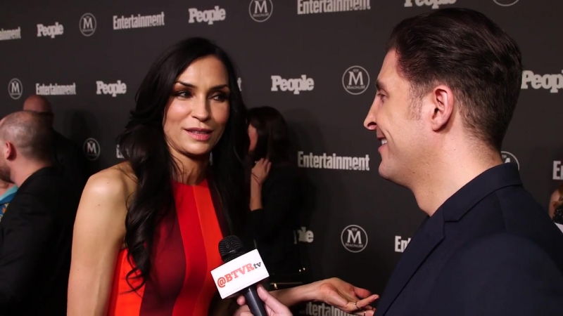Famke Janssen at the EW and People Upfront with Arthur Kade