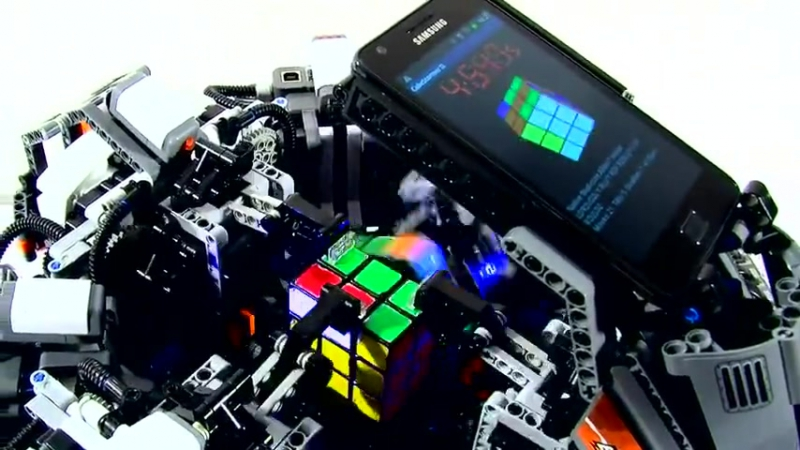 Кубик Рубика робот побил рекорд человека прикол любовь жесть ржака порно сиськи челен жопа this is хорошо100500 машина porn.mp4