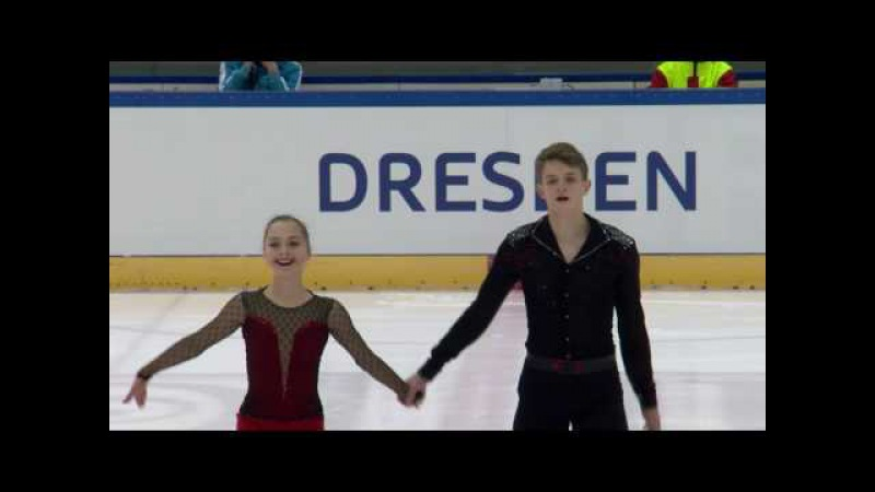 2016 ISU Junior Grand Prix - Dresden - Pairs Short Program - BOIKOVA / KOZLOVSKII RUS
