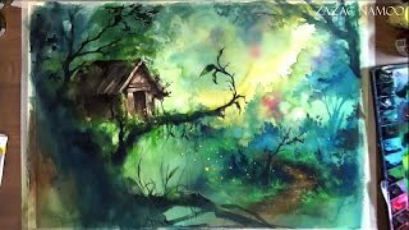 How to watercolor-speed painting-watercolor technique-수채화기법-수채화따라하기