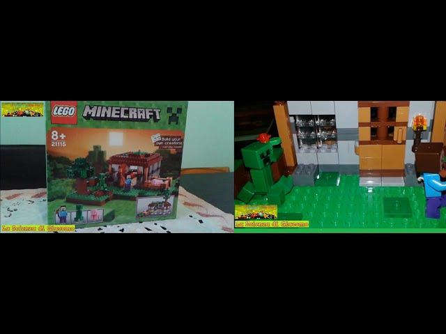 La Scienza di Giacomo Altri mattoncini Lego Minecraft La casa apribile e il Creeper vagante