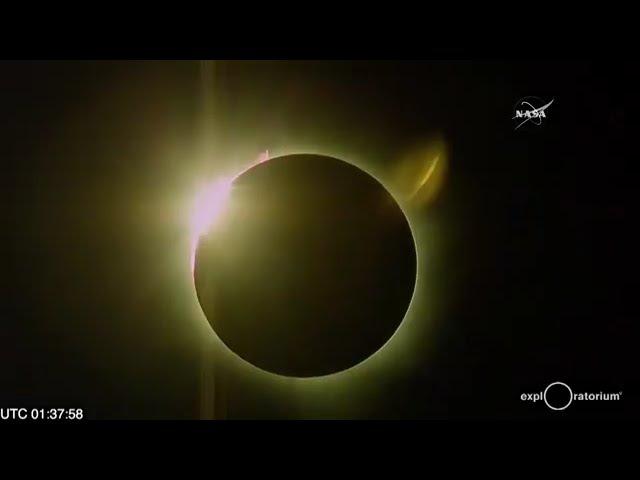 Полное солнечное затмение 9 марта 2016 года (4 минуты полной фазы)