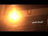 لحظة استهداف سفينة عسكرية تابعة لقوى العد&#16
