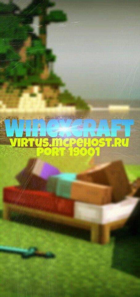 WineXCraft - лучший сервер в своём роде.