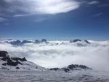 Панорама с Эльбруса 4400м. над уровнем моря