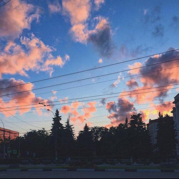 Волшебный закат в фотографиях вологжан ✨