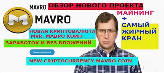 MAVRO.ORG - New Global Cryptocurrency