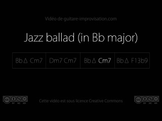 Jazz ballad in Bb Major (Bb Cm7 Dm7 Cm7 Bb Cm7 Bb F7) : Backing track