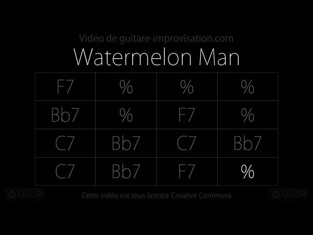 Watermelon Man Backing track (16 bar Blues in F)