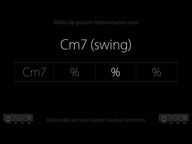Cm7 (Swing 130bpm) : Backing Track