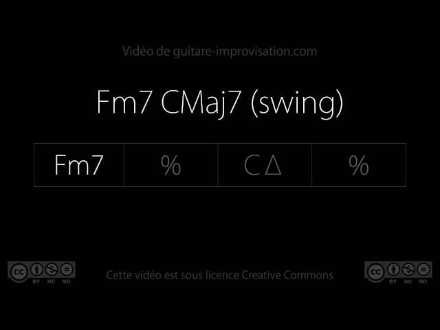 Fm7 CMaj7 (Swing 130bpm) : Backing Track