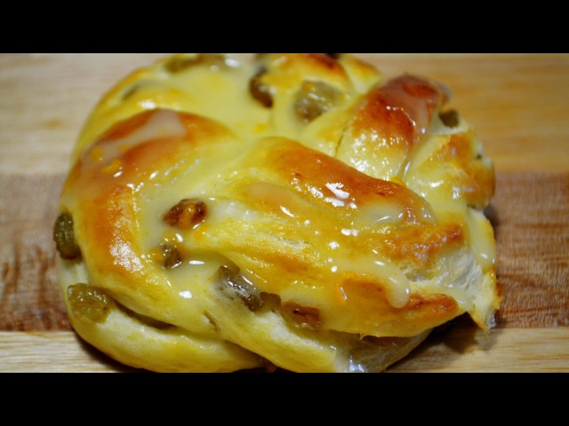 Булочки с Изюмом и Апельсиновой Глазурью | Buns with Raisins