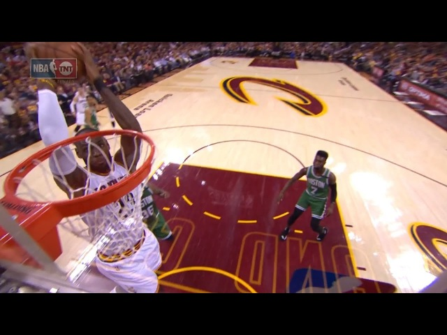 LeBron James Inbound Alley Oop Dunk Celtics vs Cavaliers Game 3 May 21 2017 NBA Playoffs