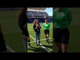 София Буш бросает монету на матче Chicago Red Stars - FC Kansas City game
