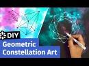 DIY Geometric Constellation Art Easy Room Decor Ideas Sea Lemon