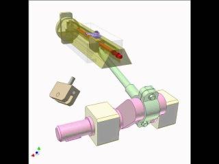 Slider-crank mechanism for adjusting stroke position 2
