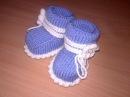 Вязаные пинетки спицами knitting booties.Часть 1.Как связать простые пинетки спицами+дл ...