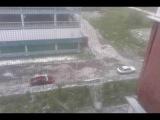 Потоп и град в Омске !3 часа без варфейса !!!  15:40 !
