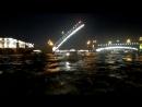 Развод Троицкого моста, речная прогулка