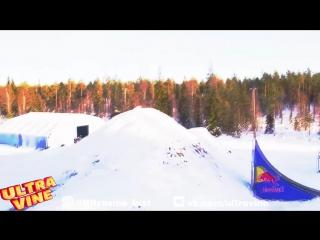 Ultra Vine | Захватывающий трюк на снегоходе