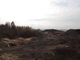Свалка отходов лесопиления. Московская гора. Канск.