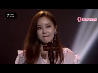 [EVENT] 170408 T-ARA Hyomin Best Korean Female Artist @ YinYueTai VChart Awards