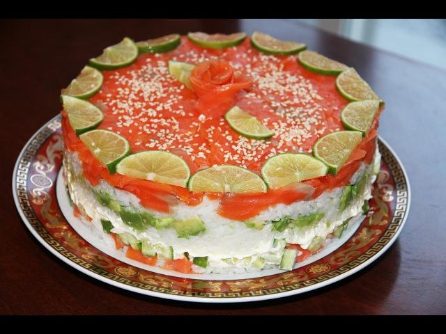 СУШИ -ТОРТ.SUSHI CAKE