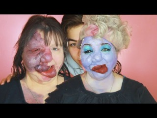 TURNING MY MOM INTO URSULA! The Little Mermaid Make Up