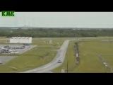 Видео кадры последствия серии взрывов Falcon 9 на платформе SpaceX в США