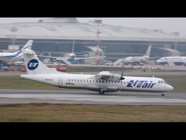 UTair Express Ютэйр Экспресс VQ BLC ATR 72 500 Взлёт во Внуково VKO UUWW