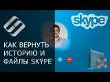 Как восстановить удаленную историю, отправленные файлы, контакты и пароль Skype