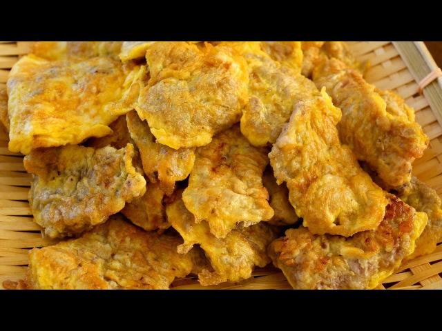 Говяжьи блины (отбивные) по-корейски Beef Pancakes (Soegogi-jeon 쇠고기전)