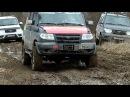 Поездка по весенней грязи на УАЗах и Chevrolet Niva