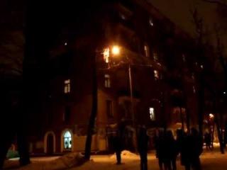 Пожар в ночь на 05.01.2017 на Перовском шоссе 16/2