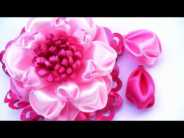 Новый Лепесток Канзаши / Цветы из Ленты 5 см / New Kanzashi Petals Flowers / Flower Petals Tutorial