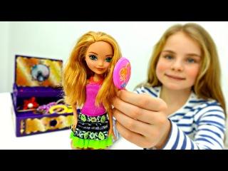 Куклы Эвер Афтер Хай: Эшлин Элла ❤️️ на показе мод 👗 #Одевалки / Видео для Девоч...