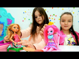 #Куклы Эквестрия Герлз & Эвер Афтер Хай 💅 Пинки Пай, Эшлин Элла, Барби в салоне кр...