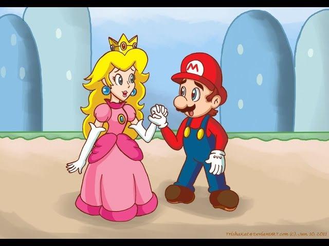 Марио спасаем принцессу из замка часть 2 похититель большой дракон игра для детей