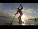 SUP surfing in Crimea САП серфинг в Крыму 25 10 2016