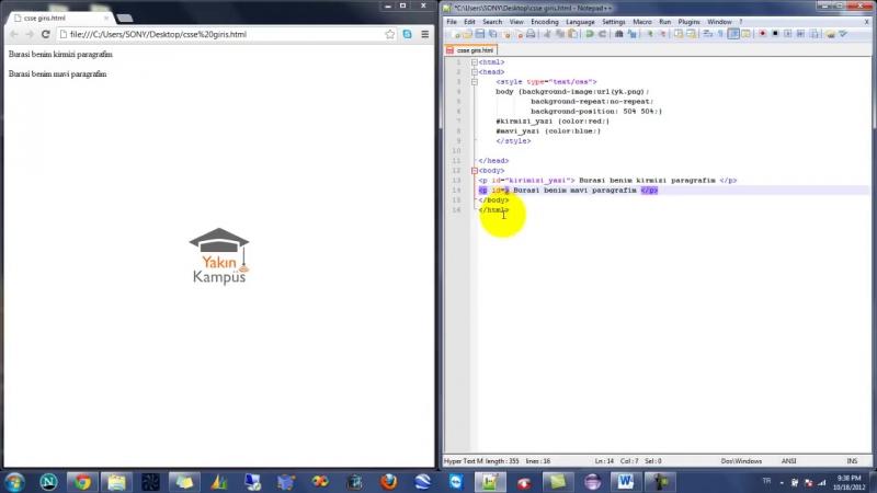 Yakın Kampüs - XHTML (HTML) ve CSS Ders 24 - CSSde ID (Kimlik) Komutu
