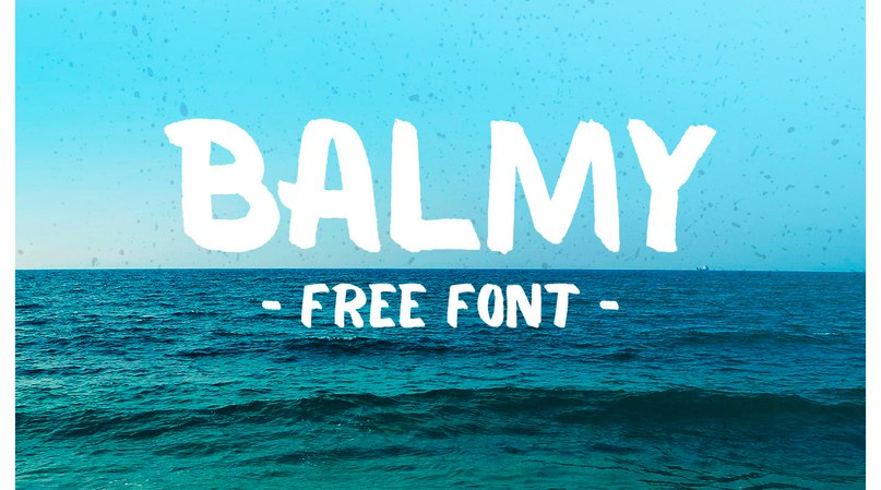 Download Balmy font (typeface)
